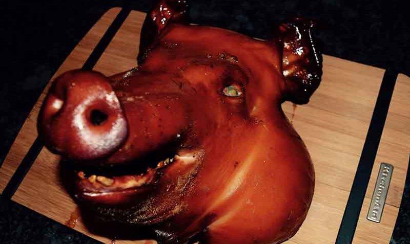 Tête de cochon fumée